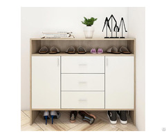 High Quality Wooden Elegant Shoe Cabinet With Doors