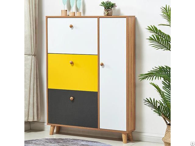 Hot Saling New Design Modern Wood Shoe Cabinet For Living Room