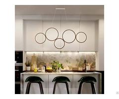 Modern Restaurant Creative Round Circle Pendant Rl5 Ring Light Led