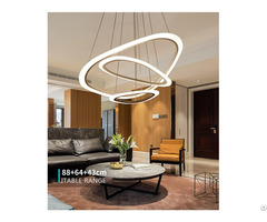 Modern Art Round Commercial Ring White Acrylic Pendant Lights Fixtures