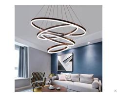 Modern Aluminium Acrylic Gel Black Led 24 Inch Circle Ring Pendant
