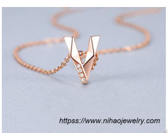 Letter Pendant Fashion Necklace