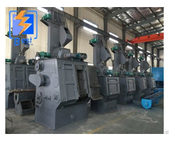 Tumblast Belt Rubber Track Shot Blasting Machine For Small Foundry Parts