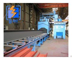 Steel Structure Pass Through Roller Type Shot Blasting Machine