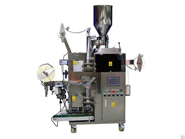Tea Bag Packaging Machinery With Tag And String