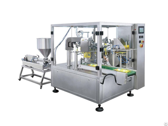 Paste Or Liquid Premade Bag Filling And Packing Machine