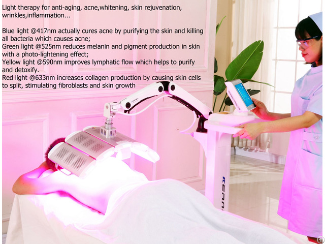 Light Therapy Pdt For Anti Aging Devices Wrinkle Relief Collagen Proliferation
