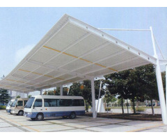 Tensile Membrane Outdoor Small Steel Structure Car Tents Flat Pack Garage Tent