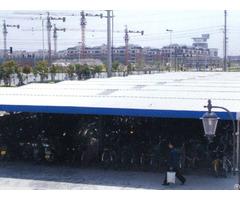 Steel Single Big Span Split Across The Bike Shed Waterproof Storage