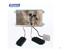 7inch Metal Shell Open Frame Motion Sensor Car Flac Audio Player Lcd Video Advertising Monitor
