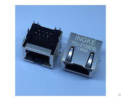 Ingke Yku 8109enl 100% Cross 615008137421 Through Hole Tab Up Rj45 Jack Modular Connector 8p8c