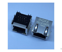 Ingke Yku 8109enl 100% Cross 615008137421 Through Hole 1 Port Tab Up Rj45 Ethernet Connectors 8p8c