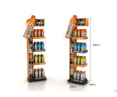 Customized Promotional Metal Floor Display Stand Dumpbin Standee