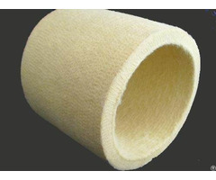 White Nomex Felt Roller Tube Used For High Temperature Region