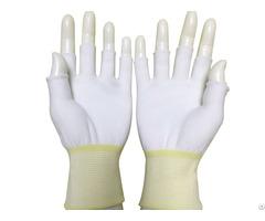 Anti Static Esd Nylon Seamless Knit Medium Weight Fingerless Glove Liner