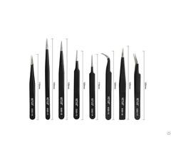 Professinal Manufacturer Hrc 40 Vetus Stainless Steel Silver Gold Black Colorful Eyebrow Tweezers