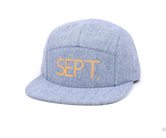 Flat Embroidery Canvas Hot Selling 5 Panel Cap