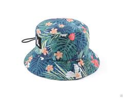 Digital Printing Pattern Polyester Bucket Hat Adjustable