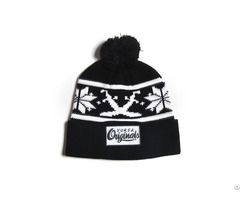 Beanie With Embroidery Logo 100% Acrylic Or Wool