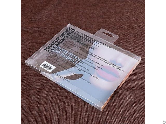 Hot Sale Custom Rectangular Makeup Brush Hard Clear Plastic Packaging Box