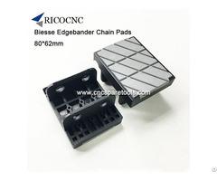 80x62mm Edgebander Track Conveyor Chain Pads For Biesse Edgebanding Machine
