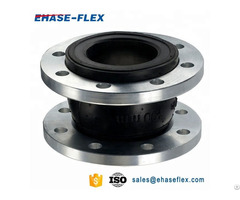 Rubber Bellows Flexible Joint With Flange Connector