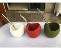 China Hot Sale Yerba Cup Silicone Gourd With Bombilla Supplier