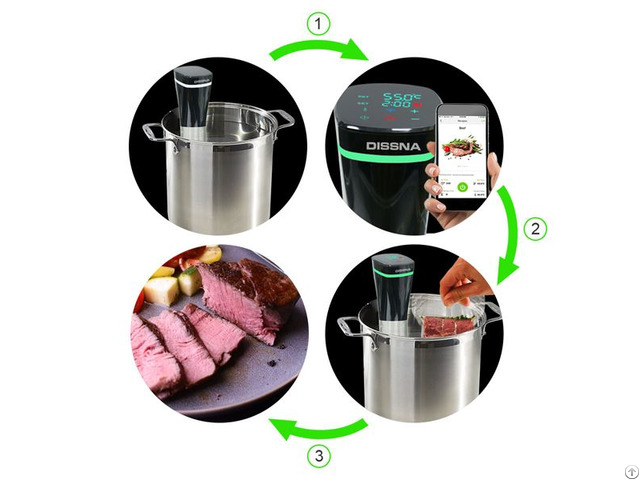 Ipx7 Waterproof And Wifi Control Sous Vide Immersion Circulator
