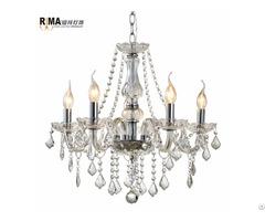 Hot Sale Decorative Indoor Lighting 5 Arm K9 Luxury Glass Crystal Chandeliers