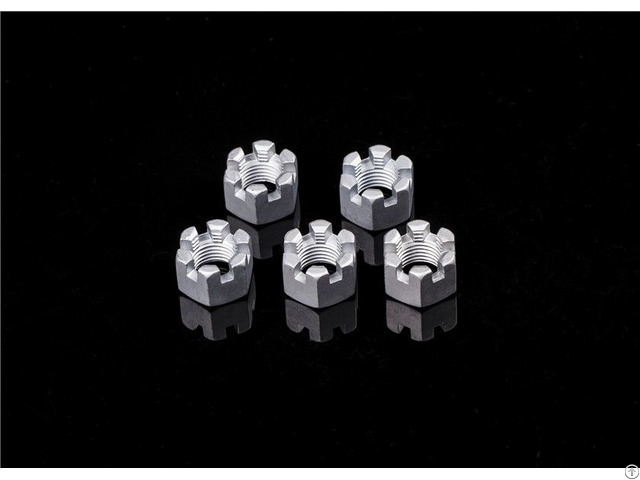 M5 M6 M8 Din937 Carbon Steel Slotted Nuts For Automotive