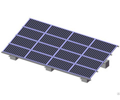 Wind Speed 60m S Solar Pv Gound Mounting System With Aluminium Framework