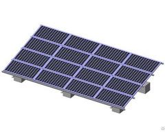 Wind Speed 60m S Solar Pv Gound Mounting System With Aluminium Framework