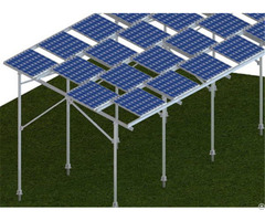 Carbon Steel Screw Pole Ground Mounting System For Solar Framed Pv Modules