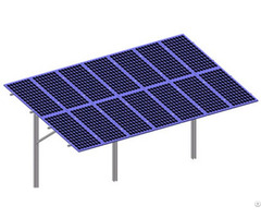 Single Double Pole Solar Panel Ground Mounting System For Off Grid Power Plant Or Station