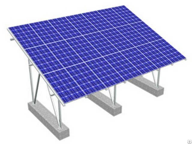 Waterproof Adjustable Solar Ground Racking System For Pv Module Sanodized Aluminum Structure