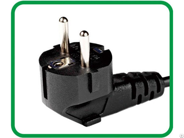 Schuko Plug Vde 2 Poles With Earthing Contact Xr 322