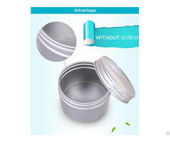 Aluminum Jars With Pc Window Lids For Cosmetic Or Candy Package