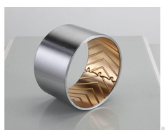Jf 800 Wrapped Composite Sliding Bearing Steel Bronze With Lubrication Pockets