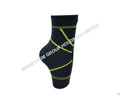 Gray And Green Sport Knitted Ankle Support