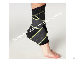 Gray And Green Pressure Knitted Ankle Support