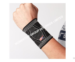 Gray And Black Knitted Wrist Support