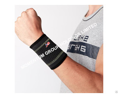 Gray And Green Sport Knitted Wrist Support