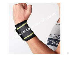 Gray And Green Knitted Pressure Wrist Support