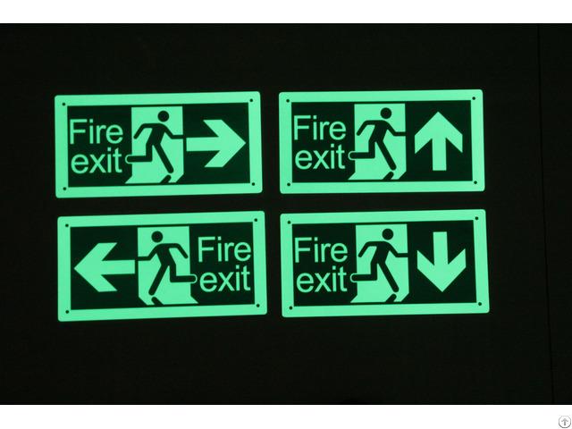 Hfg E100 Photoluminescent Emergency Signs