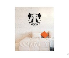 Linewallart Panda Metal Wall Art Portrait