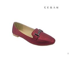 Women Commter Shoes Buckle Shinny Pu Dress Flats Pumps Footwear