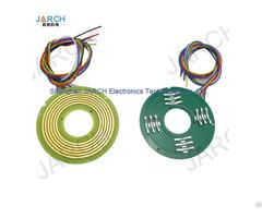 High Speed 360 Rotating Electric Pcb Pancake Slip Ring Ultra Thin 6mm Pancace Slipring 12 Circuits