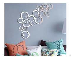 Home Decoration Diy Acrylic Rounds Dots Circles Mirror Surface Crystal Decal Wall Stickers