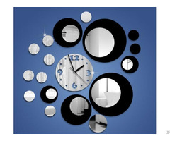 Custom High Quality Removable Diy Acrylic 3d Mirror Wall Sticker Decorative Clock