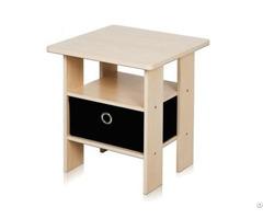 Bedroom Bedside Night Stand Storage Shelf With Bin Drawer Wholesale
